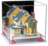 Mirrored Acrylic Display Case with White Base