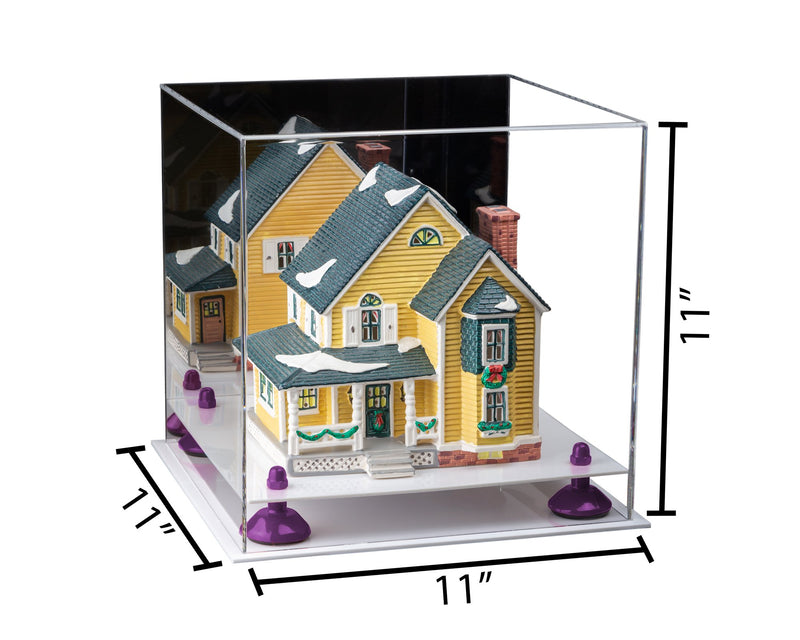 11x11x11 Mirrored Versatile Acrylic Display Case with Risers