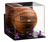 Acrylic Basketball Display Case  w/ Mirror, Risers, Clear Base  A001/B01