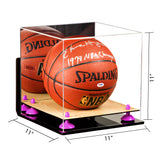 Acrylic Basketball Display Case  w/ Mirror, Wall Mount, Wood Base  A001/B01