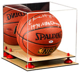 Basketball Display Case <br> With Mirror, Risers and Wood Base<br> <sub> For NBA, NCAA, and more </sub>, Display Case, Better Display Cases, Better Display Cases - Better Display Cases