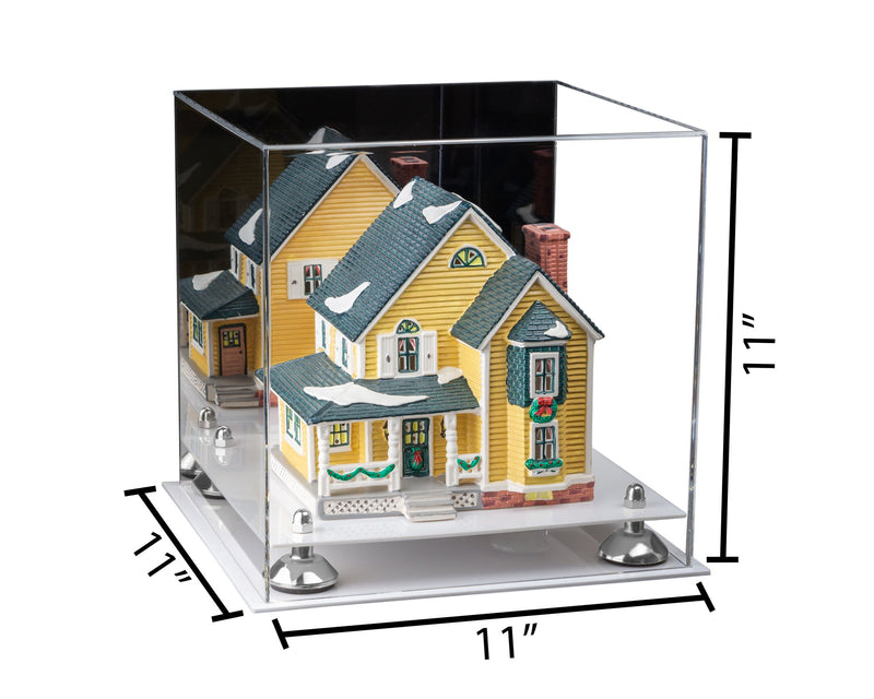 11x11x11 Versatile Acrylic Display Case with Risers