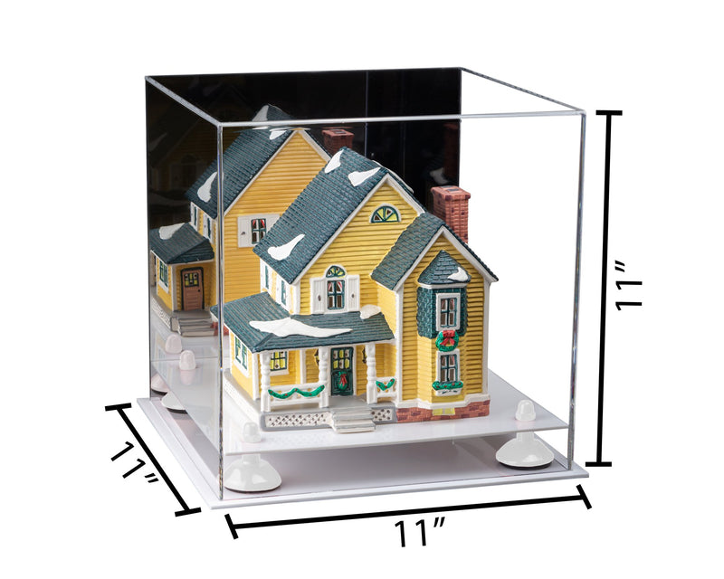11x11x11 Versatile Acrylic Display Case with White Base