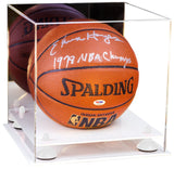 Basketball Display Case with Mirror