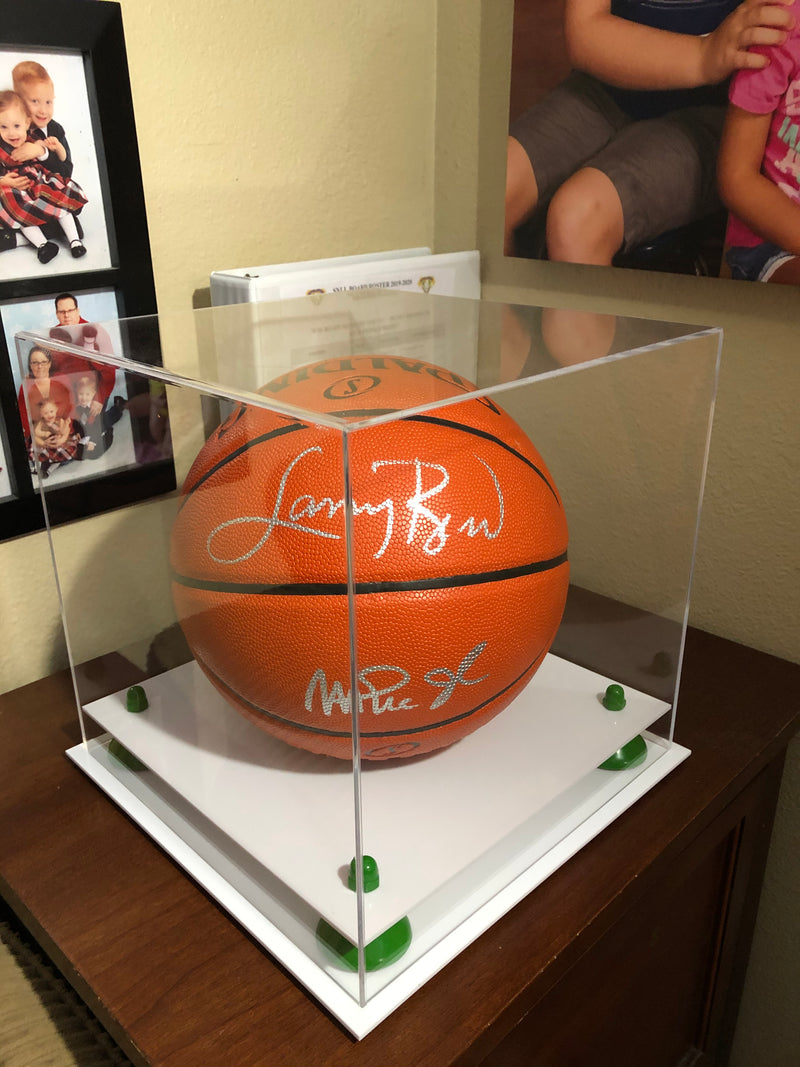 Acrylic Full Size Basketball Display Case with Risers