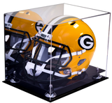 Football Helmet Case <br> Full Size With Mirror<br> <sub> NFL, NCAA, and more! </sub> - Better Display Cases - 2