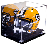 Football Helmet <br>Mirrored Display Case<br> Wall Mount  <br> <sub> NFL, NCAA, and more! </sub> - Better Display Cases - 2