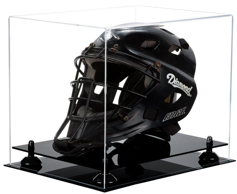 Acrylic Catchers Helmet Display Case w/ Black Base A002/V44
