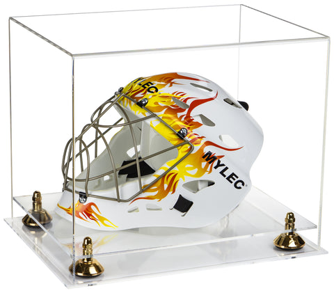 Deluxe Clear Acrylic Lacrosse Helmet Display Case with Risers and Clear Base (A002-CB)<br> <sub> MLL, NCAA, and more!</sub>, Display Case, Better Display Cases, Better Display Cases - Better Display Cases