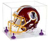 Clear Acrylic Football Helmet Display Case with Risers and Clear Base (A002-CB) <br> <sub> for NFL, NCAA, and more! </sub>