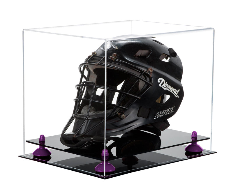 Clear Acrylic Catchers Helmet Display Box with Black Base