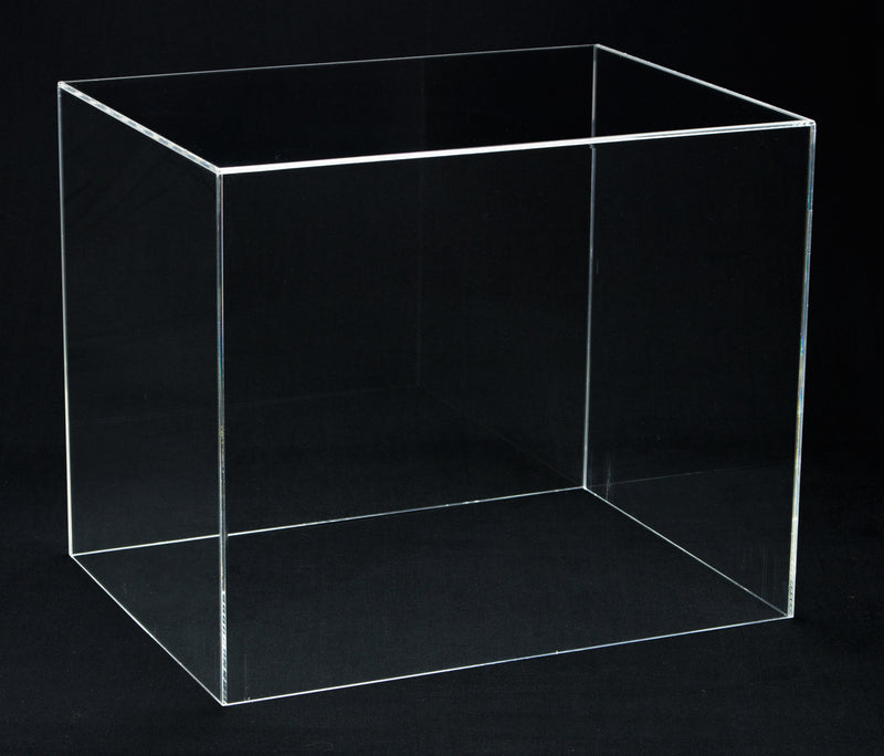 Deluxe Clear Acrylic Football Helmet Display Case with Risers and Turf Base (A002-TB) <br> <sub> for NFL, NCAA, and more! </sub>, Display Case, Better Display Cases, Better Display Cases - Better Display Cases
