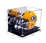 Football Helmet Case <br> Full Size With Mirror<br> <sub> NFL, NCAA, and more! </sub>, Display Case, Better Display Cases, Better Display Cases - Better Display Cases