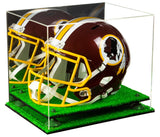 Mirrored Football Helmet Display Box with Risers