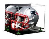 Acrylic Football Helmet Display Case with Mirror and Risers for NFL, NCAA, and more! (A002)