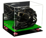 Mirrored Acrylic Catchers Helmet Display Box with Wall Mount