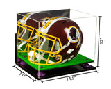 14.5x11x12 Football Helmet Display Case with Risers
