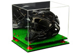 Deluxe Acrylic Catchers Helmet Display Case with Risers, Mirror and Turf Base (A002-TB) <br> <sub> for MLB, NCAA and more! </sub>, Display Case, Better Display Cases, Better Display Cases - Better Display Cases