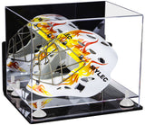 Deluxe Acrylic Lacrosse Helmet Display Case with Mirror, Wall Mount, Risers and Clear Base (A002-CB)<br> <sub> MLL, NCAA and more!</sub>, Display Case, Better Display Cases, Better Display Cases - Better Display Cases