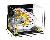 Acrylic Lacrosse Helmet Display Case w/ Mirror, Wall Mount, Clear Base A002/V44