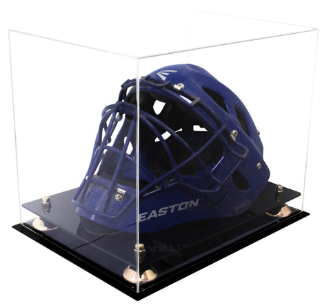 Clear Acrylic Catchers Helmet Display Case with Risers and Black Base
