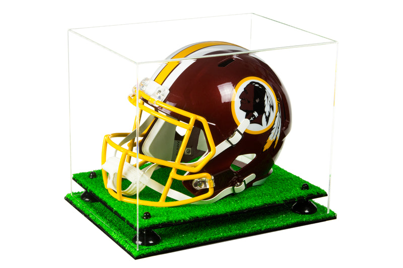 Football Helmet Display Case with Risers