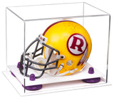 Clear Acrylic Mini - Miniature Football Helmet Display Box with White Base