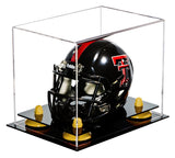 Clear Mini - Miniature Football Helmet Display Box with Risers