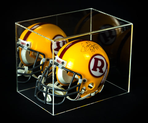 Mini Football Helmet Display Case (not full size) - Acrylic Table Top Plexiglass with Mirror (A003-MTCI) <br><sub>NFL, NCAA, and More, Display Case, Better Display Cases, Better Display Cases - Better Display Cases
