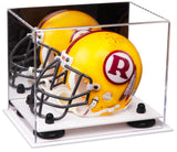 Mini - Miniature Football Helmet Display Case with Risers