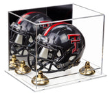 Deluxe Clear Acrylic Mini Football Helmet Display Case (not Full Size) with Mirror, Risers and Clear Base