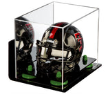 Mini - Miniature Football Helmet Display Case with Black Base