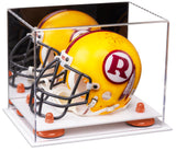 Mini - Miniature Football Helmet Display Case with White Base
