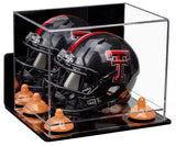 Mini Football Helmet Case with Mirror and Wall Mount