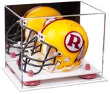 Mirrored Mini - Miniature Football Helmet Display Box with Risers