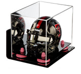 Mirrored Acrylic Mini - Miniature Football Helmet Display Box with Wall Mount