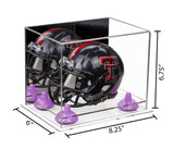 8.25x6x6.75 Mini Football Helmet Display Case