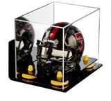 Wall Mounted Mini - Miniature Football Helmet Display Box with Risers