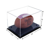 12x8.25x8 Black Based Acrylic Football Display Case