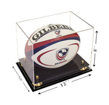 Full Sized Rugby Ball <br> Clear Display Case<br> <sub> PRO, NCAA, and more! </sub>, Display Case, Better Display Cases, Better Display Cases - Better Display Cases