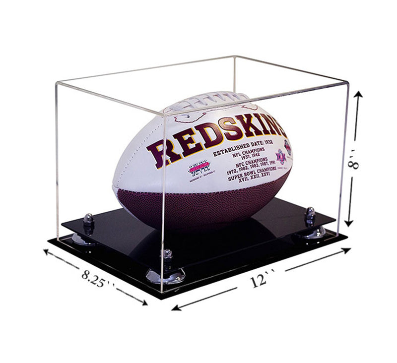 12x8.25x8 Acrylic Football Display Case with Risers