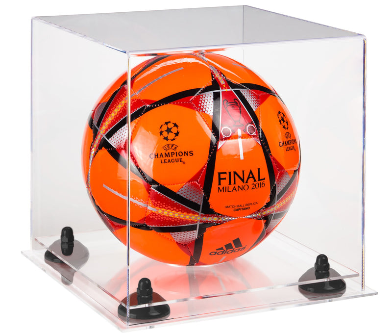 Acrylic Soccer Ball Display Case with Risers