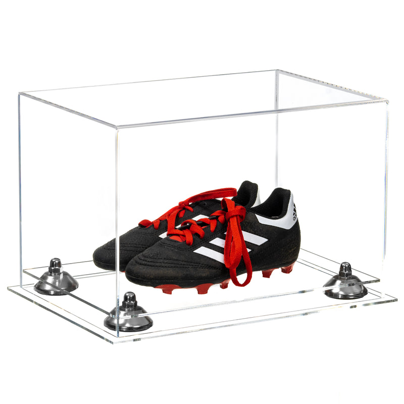 Acrylic Kids Shoes Display Case with Clear Base (A004, V41)