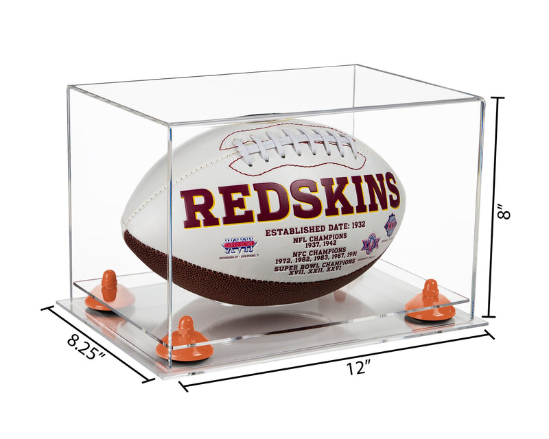 Acrylic Full Size Football Display Case with Risers