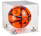 Deluxe Clear Acrylic Soccer Ball Display Case with Risers and Clear Base (A027-CB), Display Case, Better Display Cases, Better Display Cases - Better Display Cases