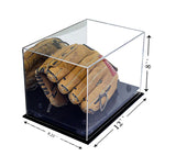 Baseball Glove<br>Display Case<br>with Mirror (A004)<br><sub>For MLB, NCAA, and more </sub>, Display Case, Better Display Cases, Better Display Cases - Better Display Cases