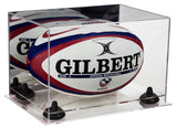 Rugby Ball Display Case with Risers