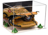 Acrylic Baseball Glove Display Case w/ Mirror, Clear Base A004/V41