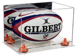 Rugby Ball Display Case with Clear Base