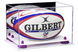Acrylic Rugby Ball Display Box with Mirror